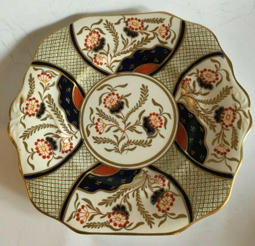 19th C. English Porcelain Square Dessert Plates, Imari Palette