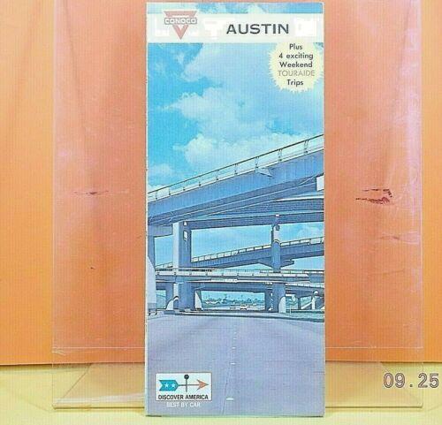 1968 CONOCO Gas Station CITY STREET MAP / Austin , Texas