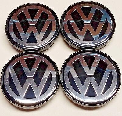 4X NEW VW VOLKSWAGEN WHEEL RIM CENTER HUB CAPS FIT BEETLE JETTA CABRIO GOLF 55MM