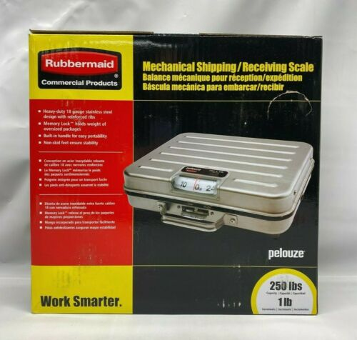 Rubbermaid Commercial Briefcase Mechanical Utility Scale 250 lb Capacity- Silver