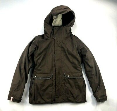 Bonfire Women s Ski Snowboarding Outdoor Hooded Brown Insulated Winter Coat  Sz S 1c36bbdf5
