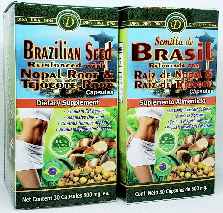 2 Pack Semilla de Brasil Raiz de Nopal Tejocote Root Brazilian Seed Brazil 2X