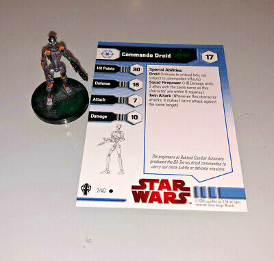 Star Wars Miniatures Galaxy at War COMMANDO DROID #7
