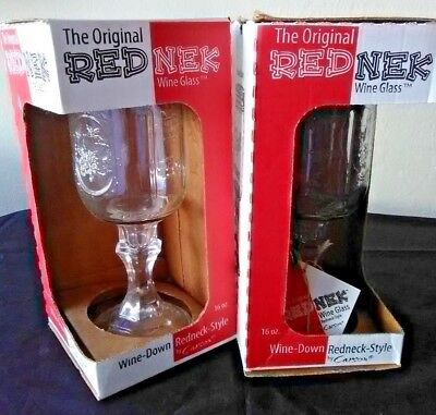 2 New Original Red Neck Wine Mason Jar Glasses Barware - Mason Jar Wine Glass Bulk