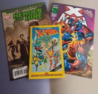 3 X comic The uncanny x-men 1982 + X Men Vol1 No 12 '96 +Heroes for Hire #14 '07