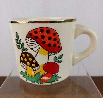 Vtg 1977 Mushroom Coffee Cup Mug Half Dollar Bank Wheeling Wv Usa Retro Unique