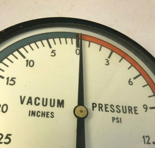 Vintage  Vacuum Pressure Gauge 0-30 inches 1-15 psi Steampunk