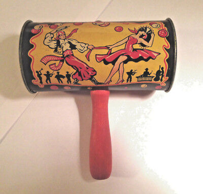 VINTAGE HALLOWEEN / NEW YEARS EVE KIRCHHOF TIN NOISEMAKER DANCERS