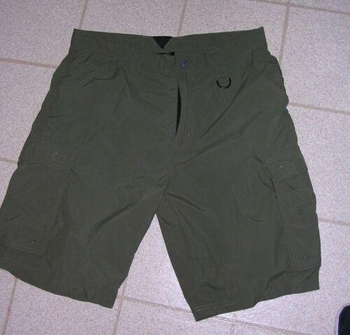 Boy Scouts of America Green Uniform Mens Nylon Cargo Shorts Flap Pockets medium