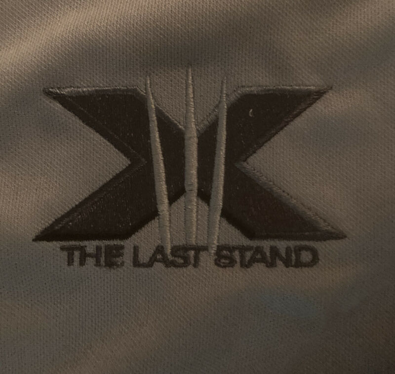 X-Men The Last Stand Roots Athletic Jacket Cast Crew Promo 2-Sided Large L Rare