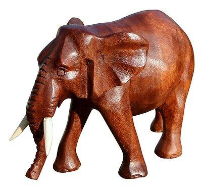 Schöner Holz Elefant Statue Deko Afrika Dekoration Handarbeit Bali Elefant 31