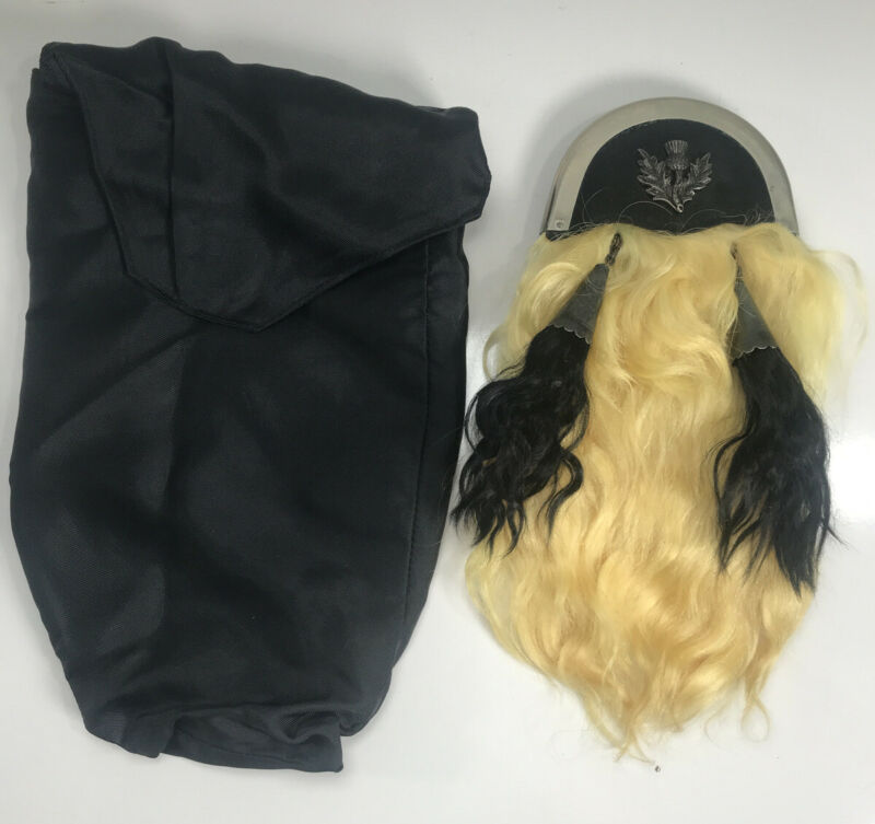 Vintage Horsehair Sporran for Kilt with Thistle Crest  Made in Scotland