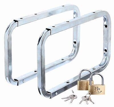 GAH Alberts Leiterhaken abschließbar Set 2 Stück Stahl verzinkt 282 x 170 NEU