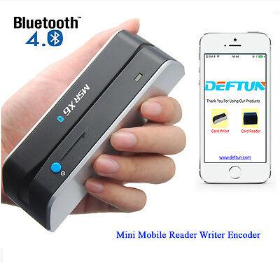 Atm Skimmer Bluetooth Msrx6bt Magnetic Credit Card Reader Writer Encoder Swipe