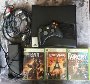 Xbox 360 3 games 1 controller