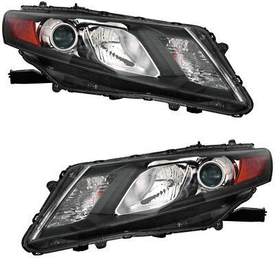 Honda Accord Headlight Assembly - Headlights Headlight Assembly Pair Set for 2010 2011 2012 Honda Accord Crosstour