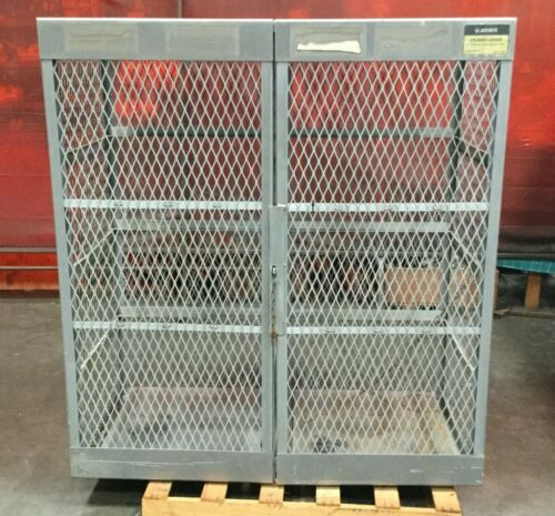 "Justrite Vertical Storage Locker Model 23007 / 10-20 Cylinder / 60"" x  32"" x 65H"