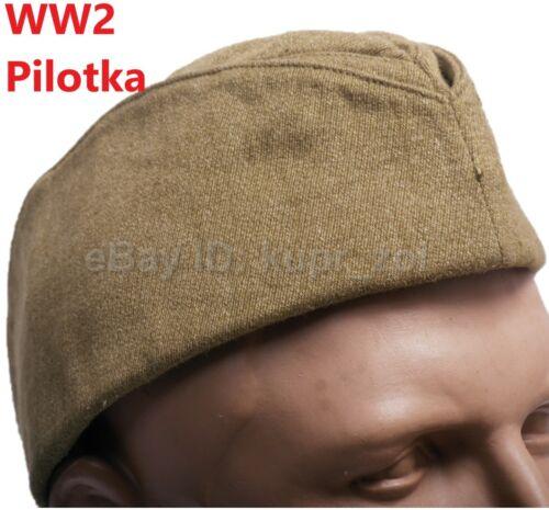 Pilotka WW2 Soviet Red Army Cap Soldier Officer