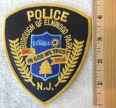 BOROUGH OF ELMWOOD PARK NEW JERSEY POLICE PATCH (HIGHWAY PATROL, SHERIFF, EMS)