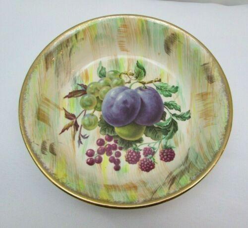 "Royal Tudor Ware Barker Bros England Gold Trim 5.5"" Fruit Design Dessert Bowl"
