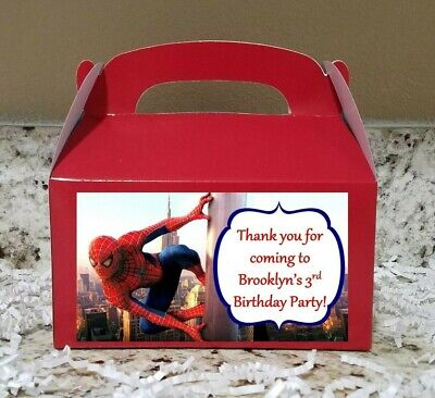 12 Spiderman Candy Bags Spriderman Favor Boxes Spiderman Candy Boxes](Spiderman Favor Bags)