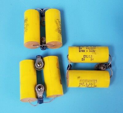 Lot Of 6 Arcotronics Mkp-1.442 Capacitors 0.47uf 1200500v Mkp1.442