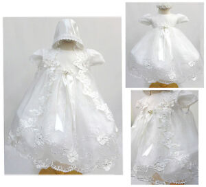 Baby-Girl-White-Gown-Christening-Baptism-Dress-Size-0-6-6-12-12-18-18-24-30M
