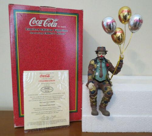 "Limited Edition Emmett Kelly & Coca-Cola Figurine ""Celebration"" 1238/9900 Rare"