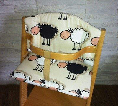 Kissenset Sitzverkleinerer Schafe für Stokke Tripp Trapp Babyset  Hochstuhl NEU