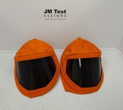 Two Arc Flash Hood With Hard Hat Nomex Iiia No Cal Label Br
