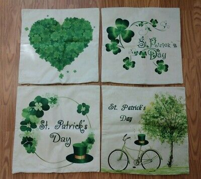18 x 18 Square Throw Pillow Covers ~ St. Patrick's ~ Set of 4