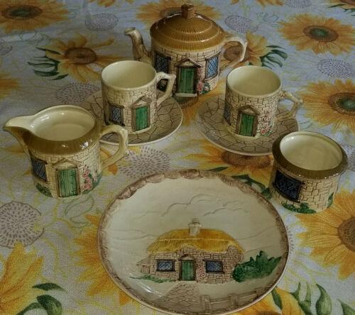 SylvaC Ceramics Cottage Ware 8 Assorted Tea Set Pieces