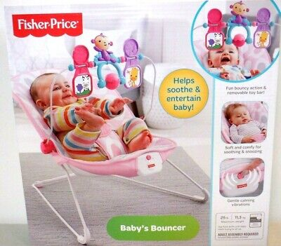 Fisher-Price Baby's Bouncer  Pink  Baby Play 3117 ''