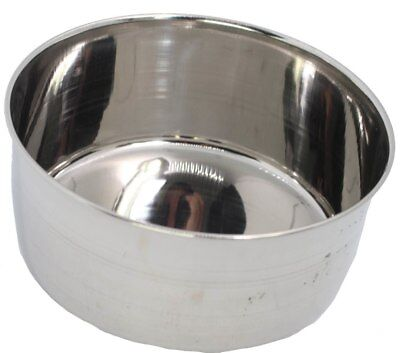 80060 Stainless Steel 20 oz Cage Coop Cup Bird Dog Animal Food Water Bowl