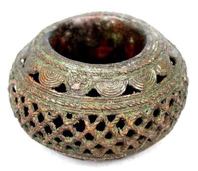 Art African - Bracelet Tikar Bronze - African Anklet - Cameroon - 12 CMS
