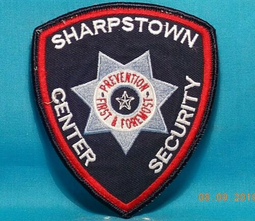 SHARPSTOWN Center Security / Texas / Embroidered Cloth Patch / PRE-OWNED