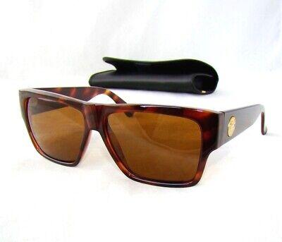 d24e6e6a37 GIANNI VERSACE vintage gold medusa brown 372 sunglasses unisex rectangular  845