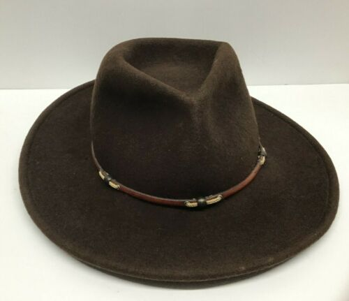 Stetson Crushable Wildwood Size Small 100% Wool Water Repellent Brown Hat