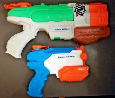 Nerf Super Soaker Microburst 2 & Zombie Dreadshot Pump Action Blaster Water Gun