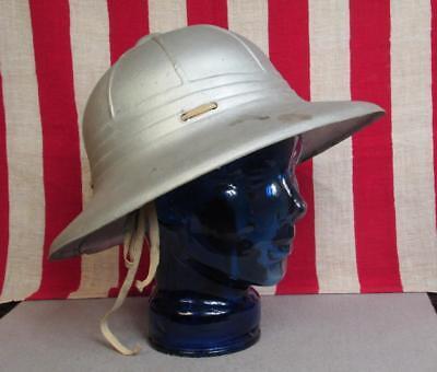 (Vintage Antique Frank Back Tennis Chair Umpire Sun Helmet Cricket Silver Parade)