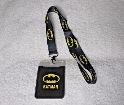New BATMAN LOGO LANYARD With ID PASS HOLDER Ideal Gift A