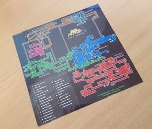 Super Metroid / Planet Zebes Map / Samus / Nintendo SNES - Classic Mini