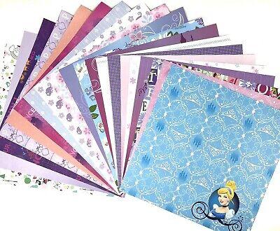 12X12 Scrapbook Paper Lot 20 Sheets Disney Princess Prints Card Making L114 Disney Princess 12x12 Paper