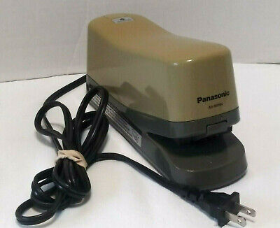 Vintage Panasonic Commercial As-300nn Heavy Electric Stapler Tested Preown Good