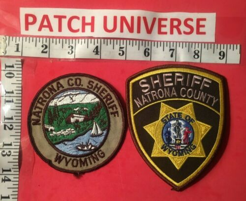 LOT OF TWO DIFF NATRONA COUNTY SHERIFF WYOMING   SHOULDER PATCHES  M038