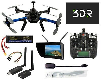 "3DR X8+ Heavy-Lift Multicopter Drone (433 MHz) w/ Black Pearl 7"" HD FPV Screen"