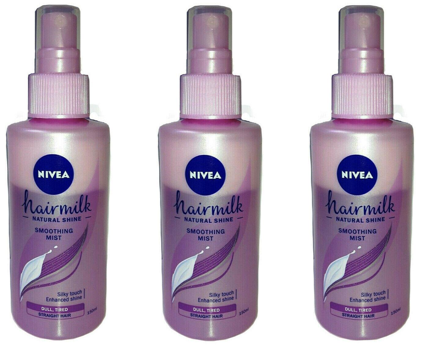 3x Nivea Pflegespray Haarmilch natürlicher Glanz, ohne Ausspülen  200ml NEU