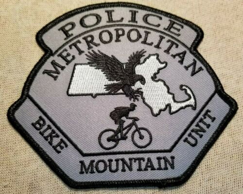 MA Massachusetts Metropolitan Bike Mountain Unit Police Patch