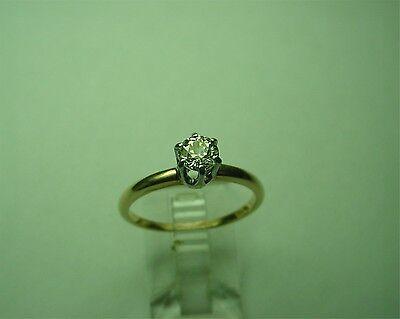 JABEL 14 KT 2-TONE GOLD ENGAGEMENT RING W/ .36 CARAT OLD EUROPEAN CUT DIAMOND for sale  Atlanta