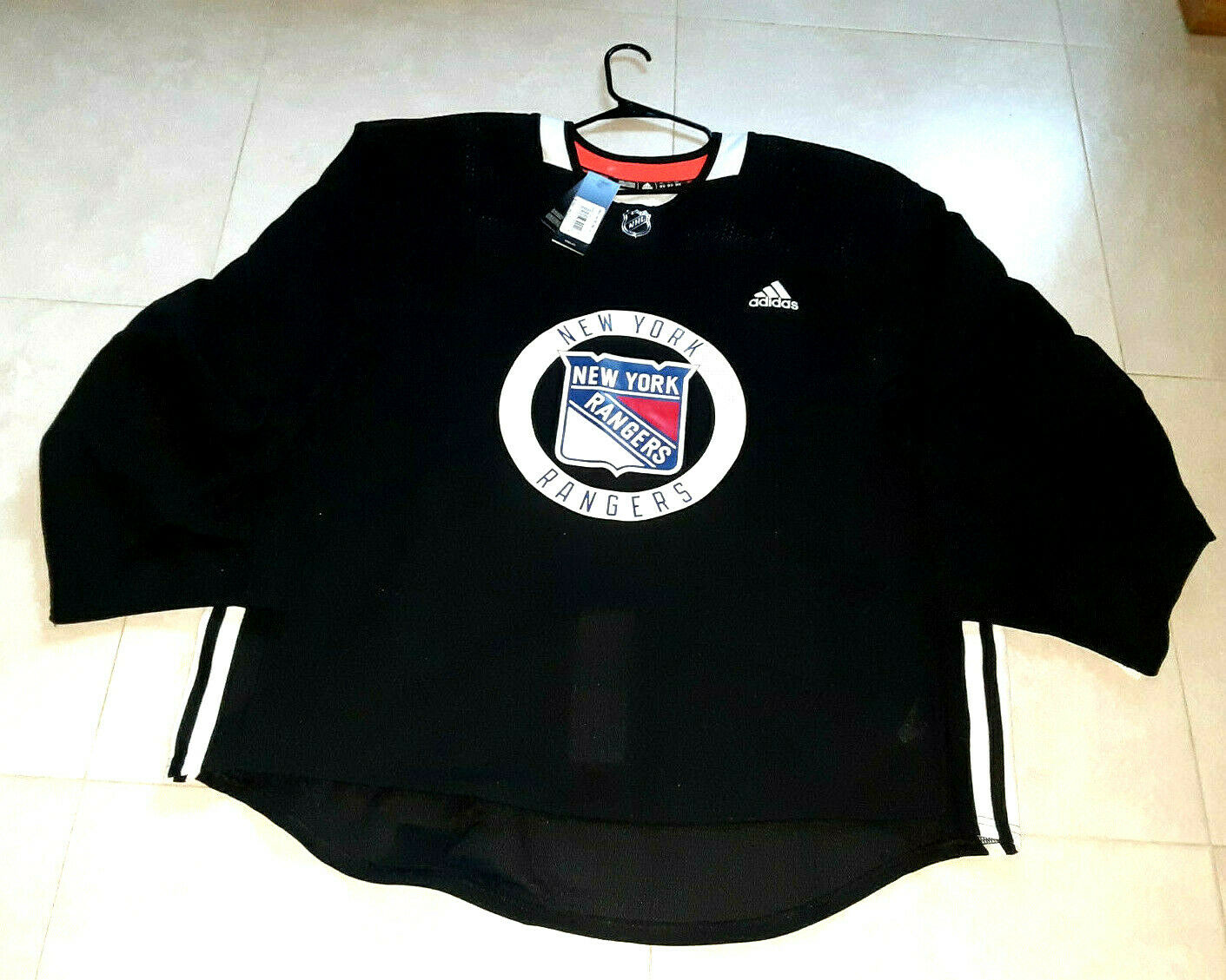 Adidas nhl new york rangers pro authentic practice jersey size 58g ...